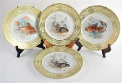 Set Four Bavaria Tirschenreuth Porcelain Plates