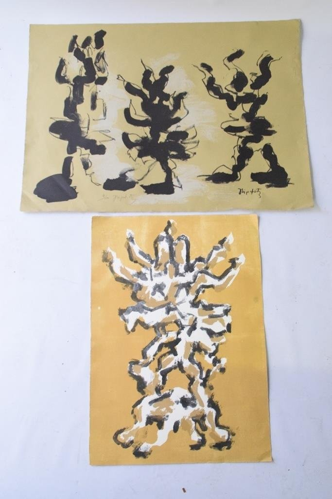 Pair Jacques Lipschitz (1891-1973) Abstract Prints