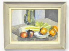Carmen Camarota Still Life With Fruit Watercolor