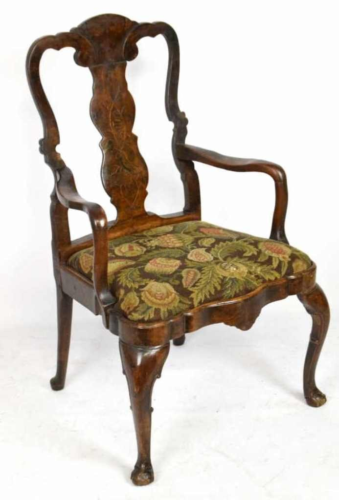 18th Century Carved Walnut Armchair