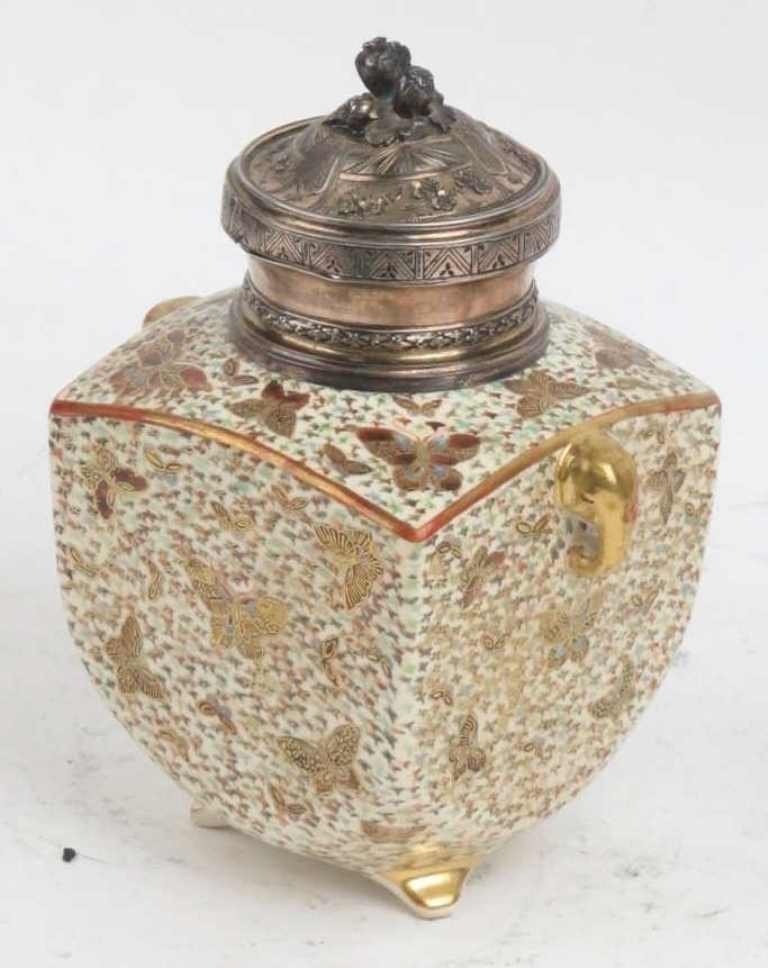 Meiji Period Satsuma Tea Caddy