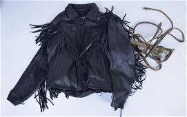 Leather Riding Jacket and Tackle