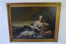 Large Oil Painting Reclining Female