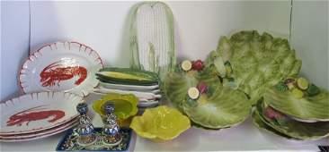Group 26 Pcs Ceramic Tablewares Mostly Italia