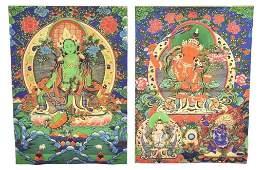 Pair Bodhisattva Prints