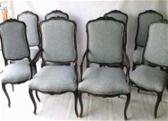 Set of Eight Provincial French Chairs