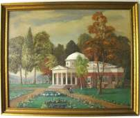Oil on Canvas of View of Monticello