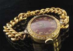 Ladies 18K Yellow Gold Antique Bracelet Watch
