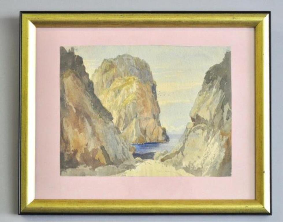 Samuel Palmer (1805-1881) Landscape Watercolor