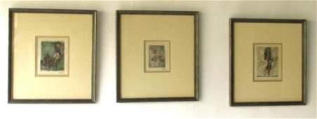 Three Johnny Friedlaender (1912-1992) Etchings