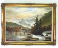Oil on Canvas Landscape Signed Williams