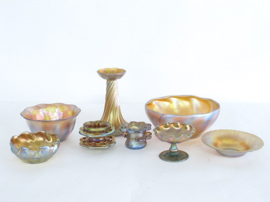Grouping of Tiffany Favrile Glass Pieces