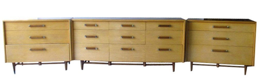 Three Piece Mid-Century Modern Credenza Set