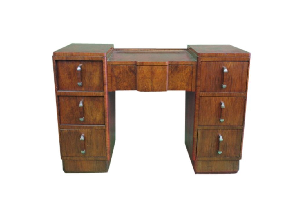 Seven Drawer Wood Desk