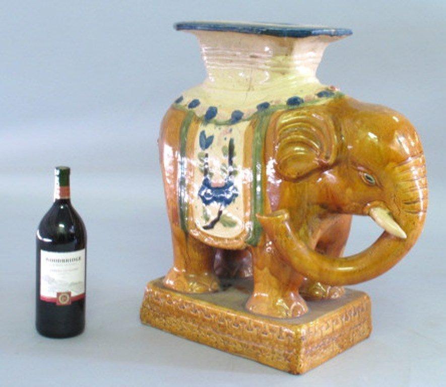 Ceramic Elephant Garden Stool Pair - 4