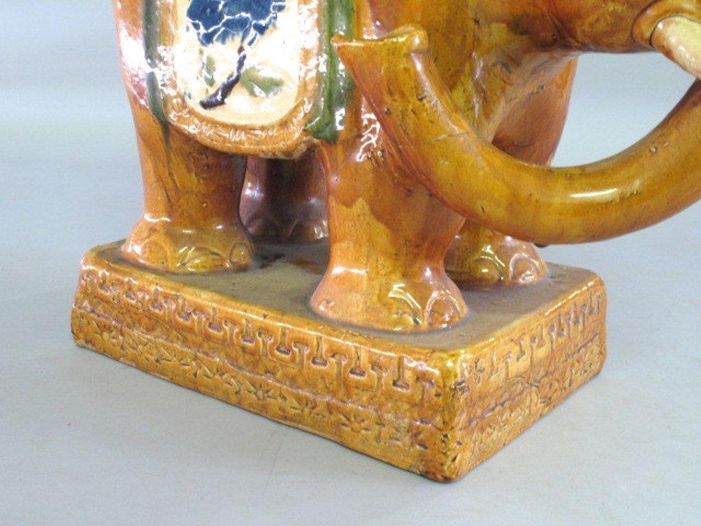 Ceramic Elephant Garden Stool Pair - 6