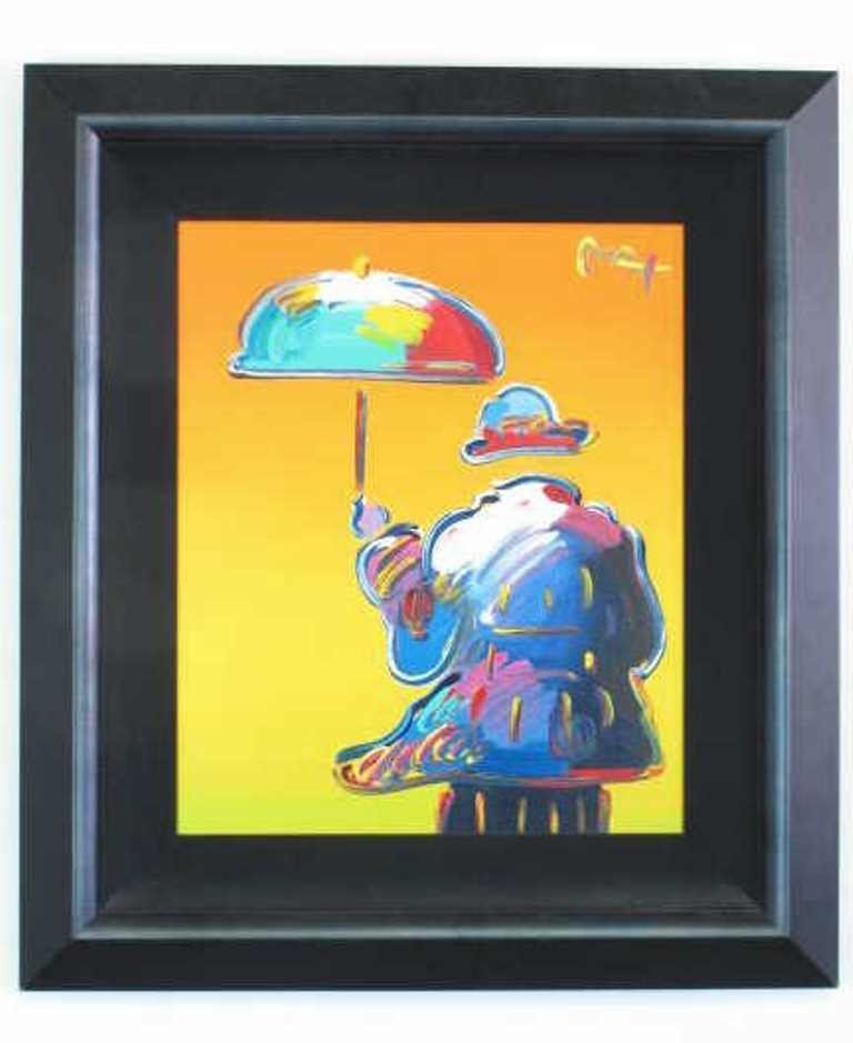 Umbrella Man by Peter Max (American, 1937-)