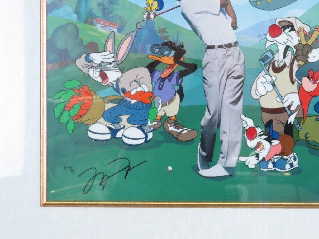 Warner Brothers Michael Jordan Autographed Cel - 3