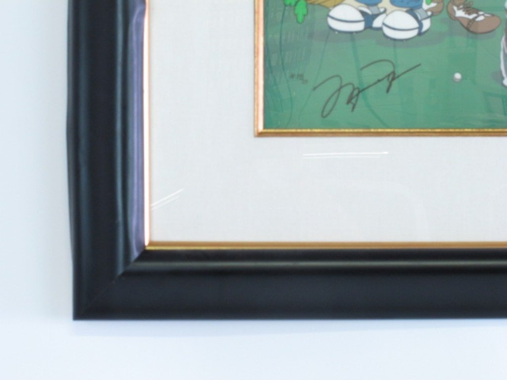 Warner Brothers Michael Jordan Autographed Cel - 4