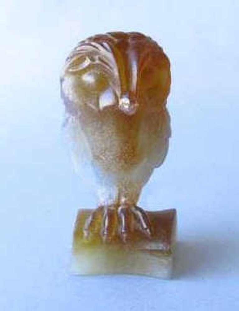 Daum France Pâte de Verre Owl Figure - 3