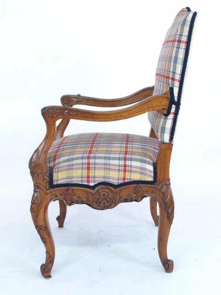 Plaid Upholstered Armchair - 5