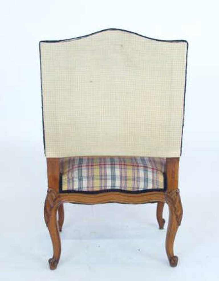 Plaid Upholstered Armchair - 6