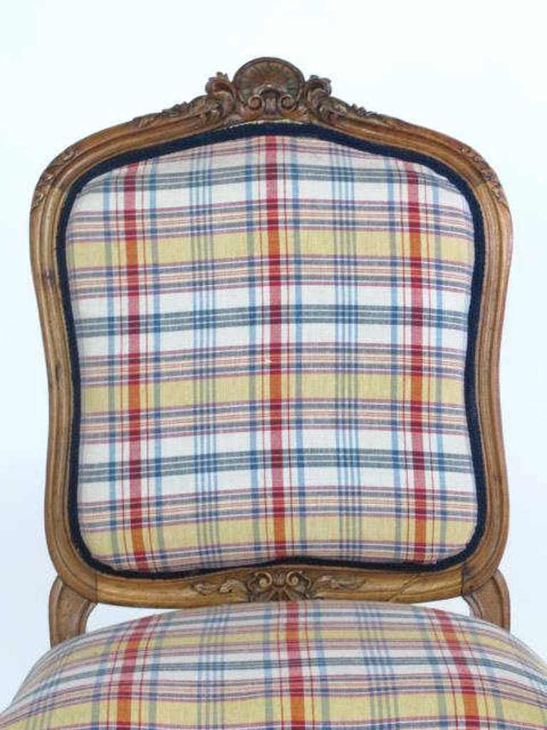 Plaid Upholstered Side Chair - 3