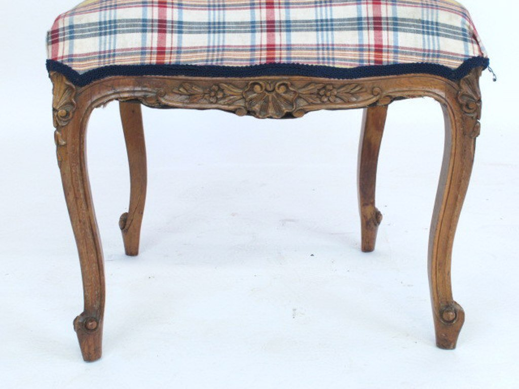 Plaid Upholstered Side Chair - 4