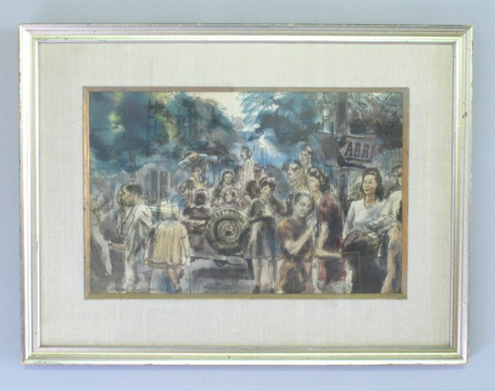 Albert Gold (1916-1972) Watercolor on Paper