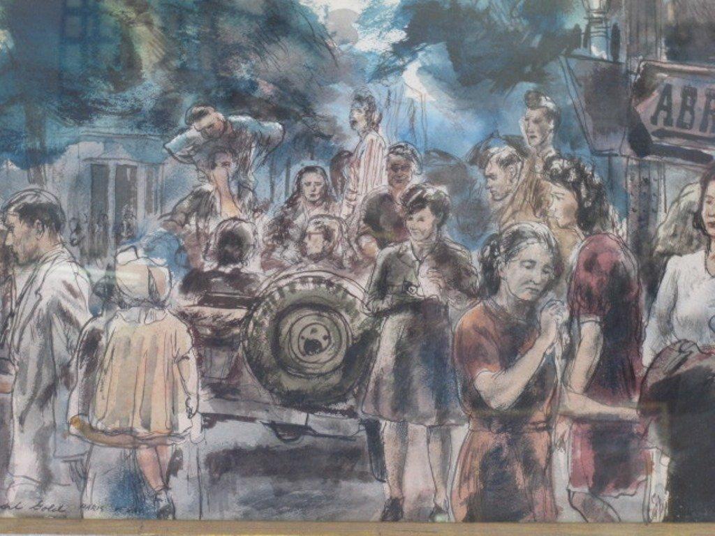 Albert Gold (1916-1972) Watercolor on Paper - 2