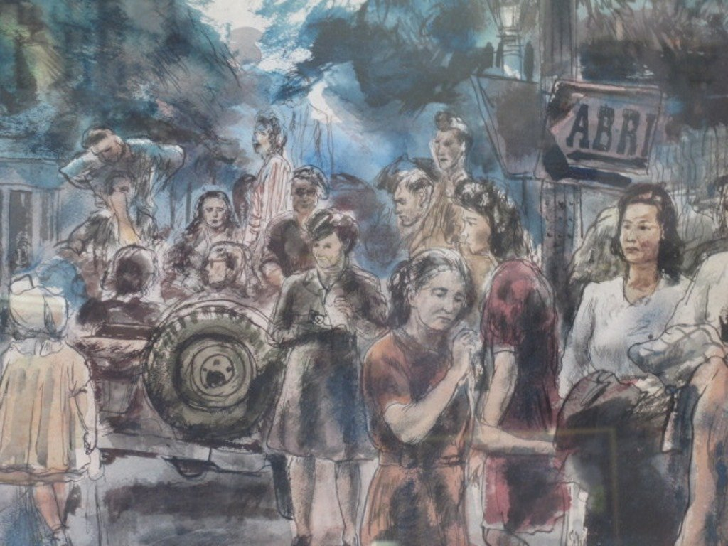 Albert Gold (1916-1972) Watercolor on Paper - 3