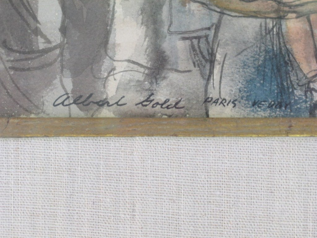 Albert Gold (1916-1972) Watercolor on Paper - 6