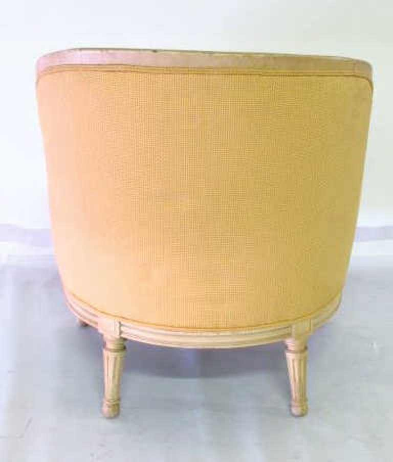Yellow Upholstered Bergere - 8