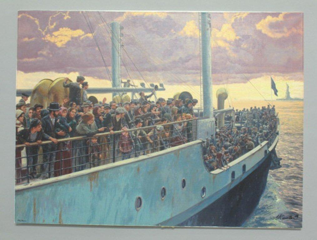 Mort Kunstler (1931) Signed Serigraph on Canvas