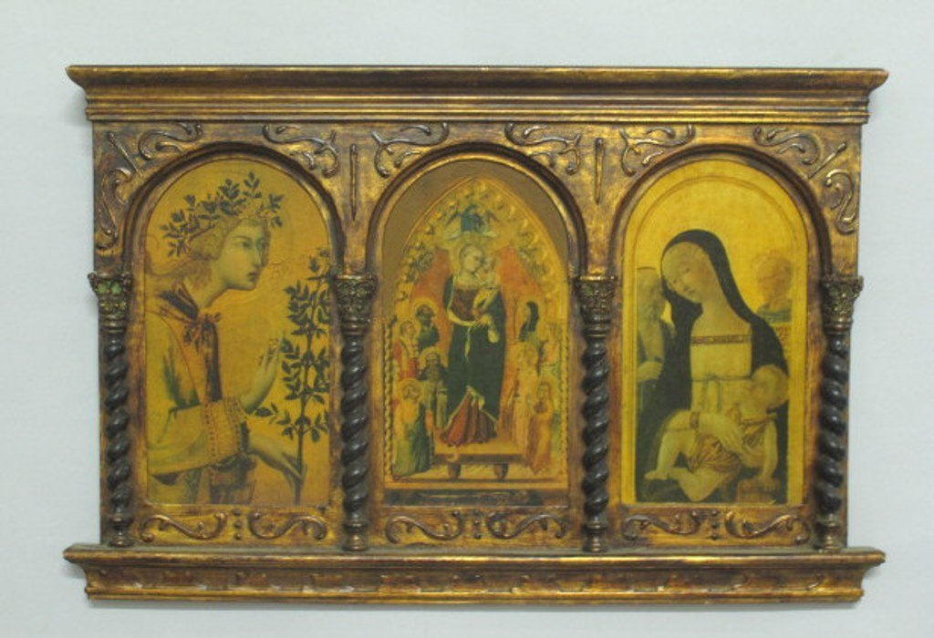 Medieval Style Triptych