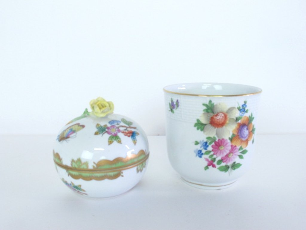 Two Herend Porcelain Containers