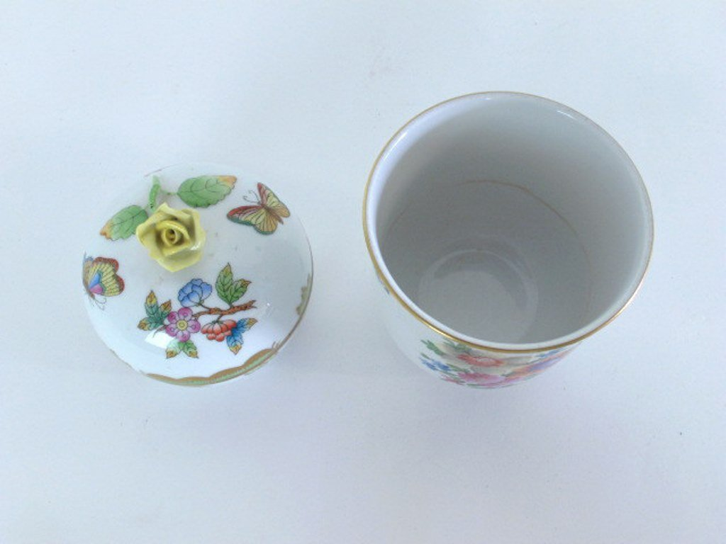 Two Herend Porcelain Containers - 2