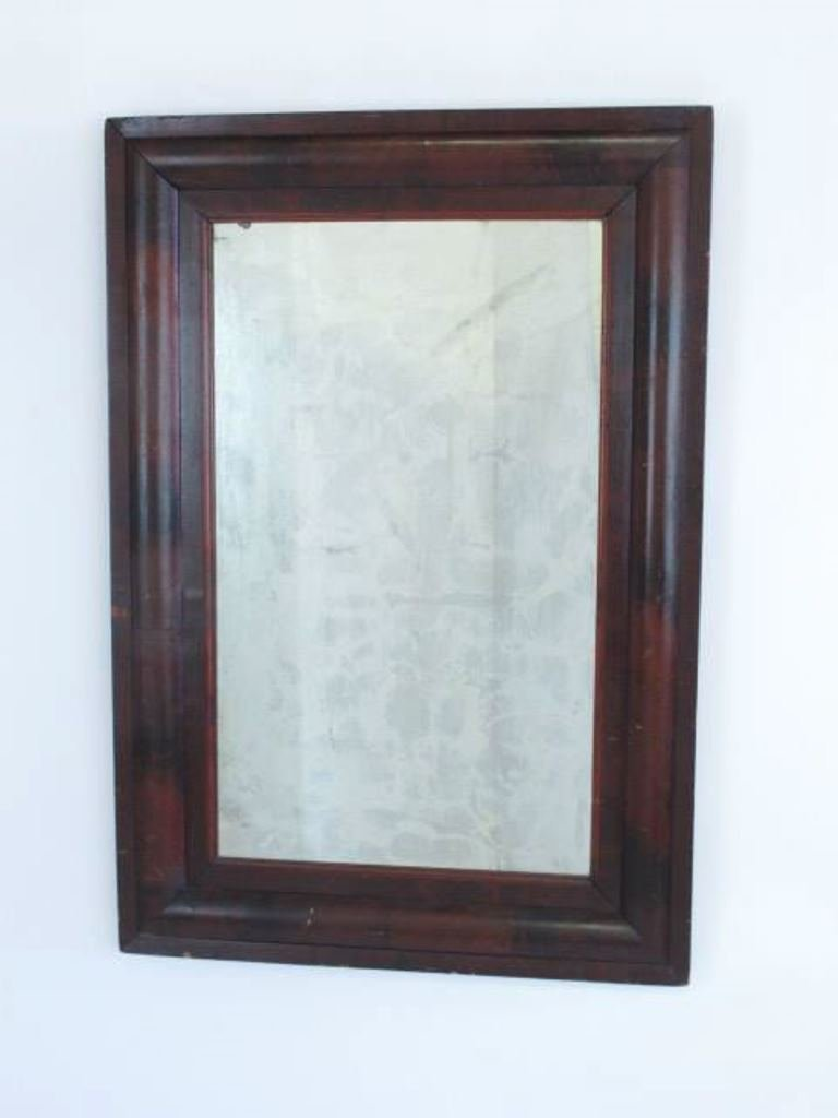 Mahogany Veneered Wall Mirror