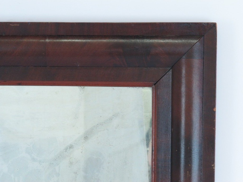 Mahogany Veneered Wall Mirror - 2