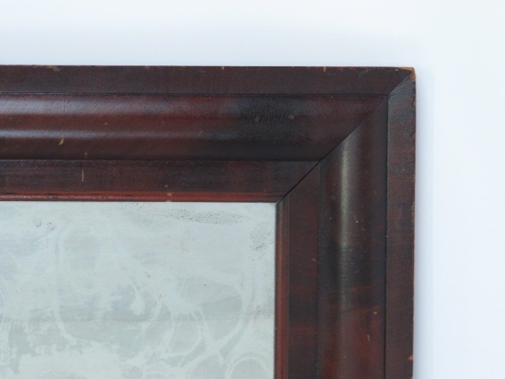 Mahogany Veneered Wall Mirror - 3