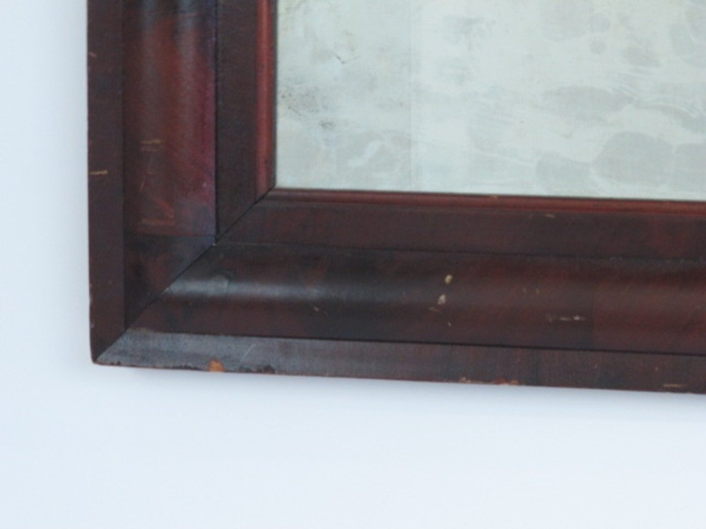 Mahogany Veneered Wall Mirror - 4