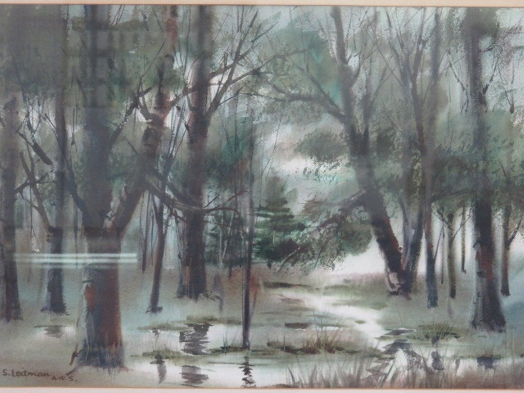 Samuel Leitman (1908-1981) Watercolor - 2