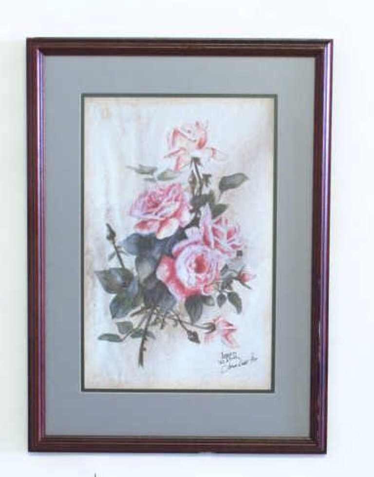 James Dodd Signed Rose Print
