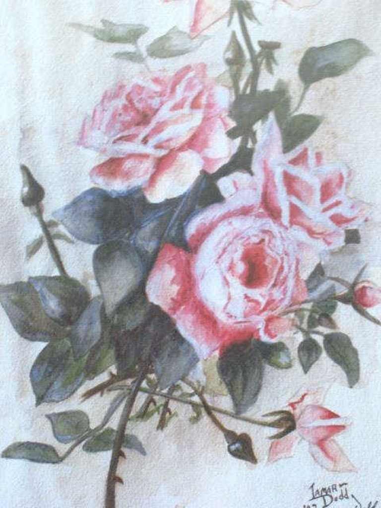 James Dodd Signed Rose Print - 5