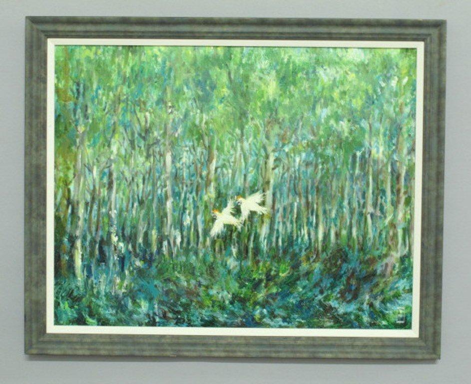 Paul Rigby (1924-2006) Oil on Panel