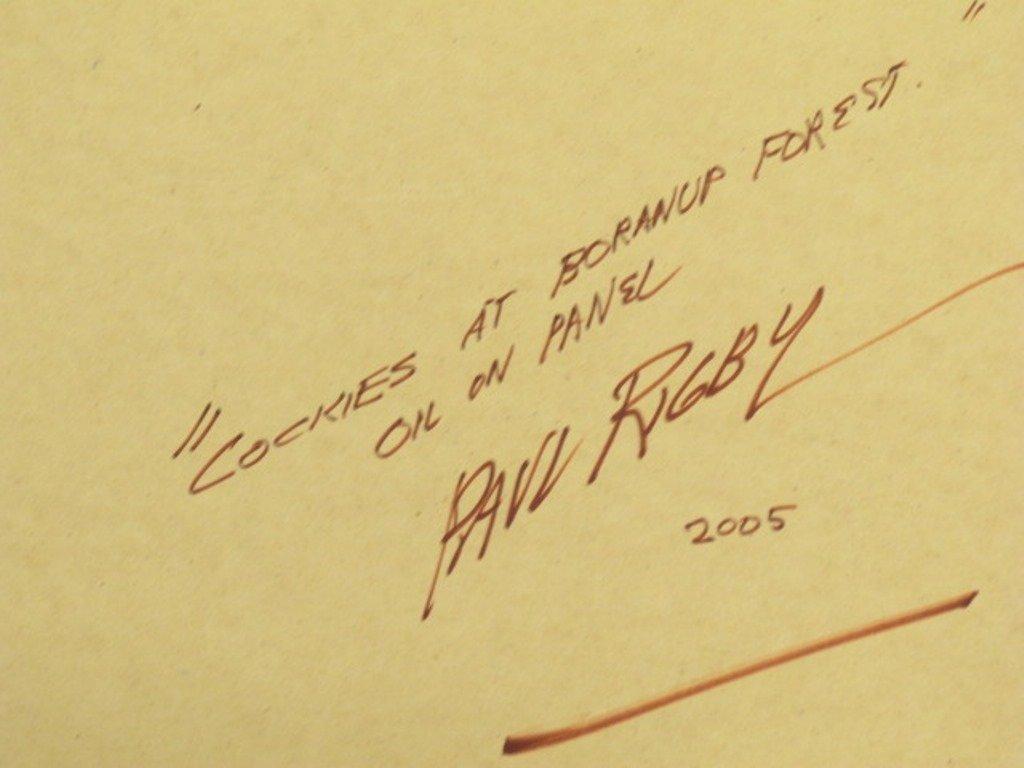 Paul Rigby (1924-2006) Oil on Panel - 9