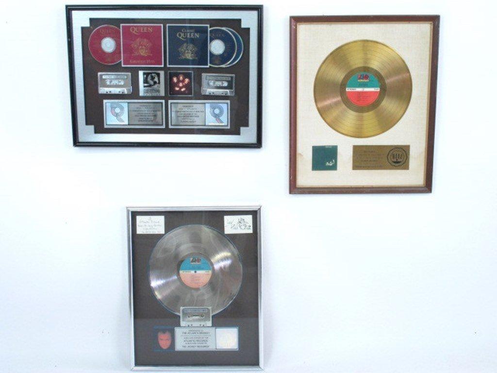 Group of Three Classic Rock Memorabilia Items