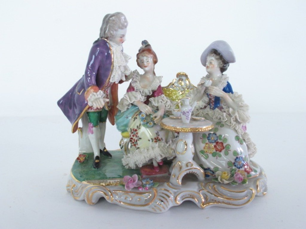 Group of Three Porcelain Figurines - 10