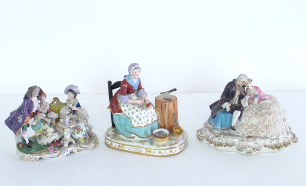 Group of Three Porcelain Figurines