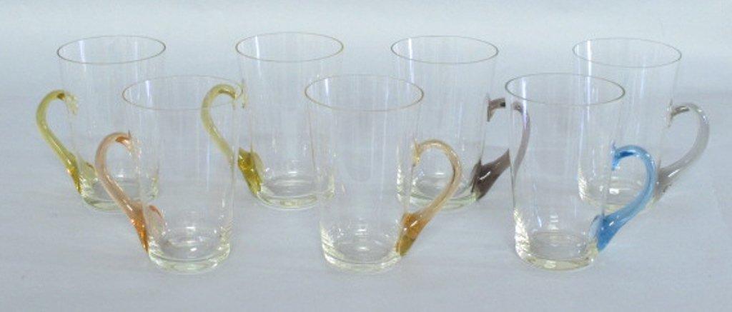 Group of Tinted Glass Mugs